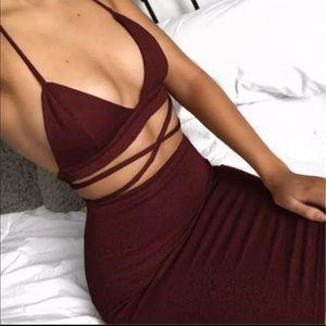 Dresses & Skirts - Red Glitter Matching Set